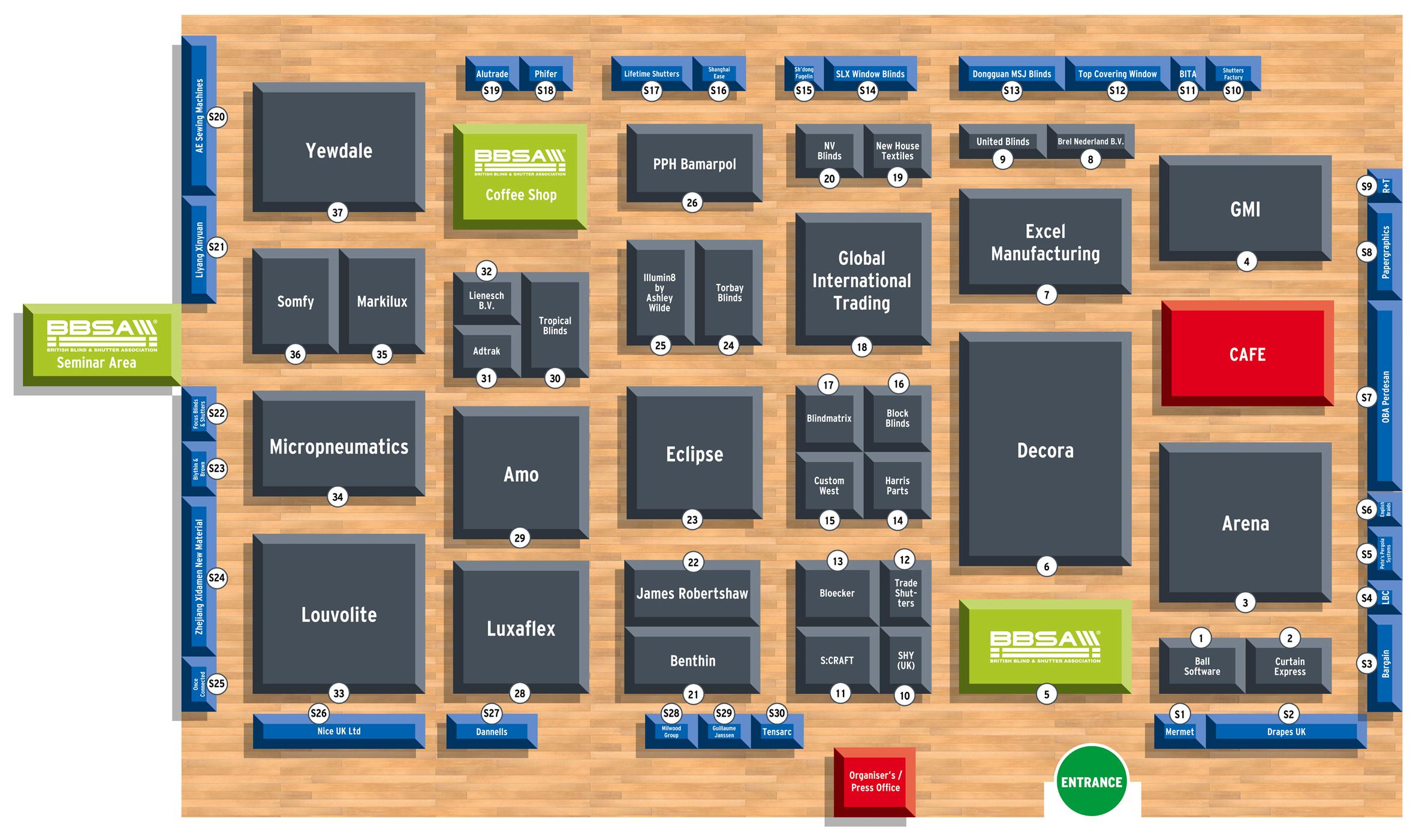 BBSA Show 2018 Floorplan